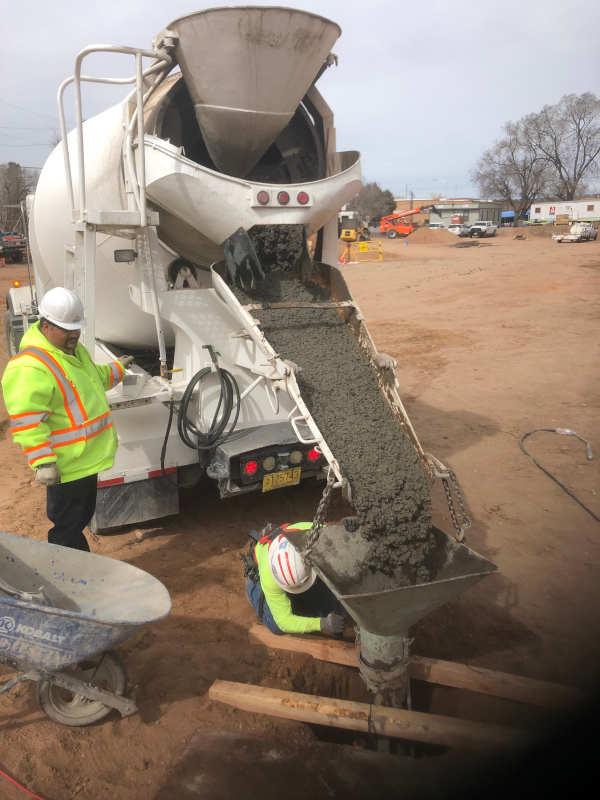 hot weather concrete Santa Fe Concrete 505-471-1900 Ready Mix Concrete Company Santa Fe NM SLAB